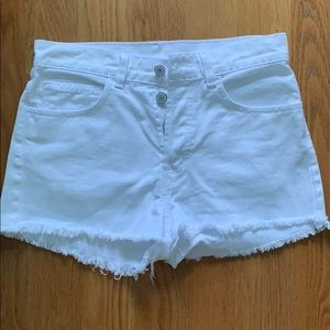 White high waisted Brandy Melville Shorts